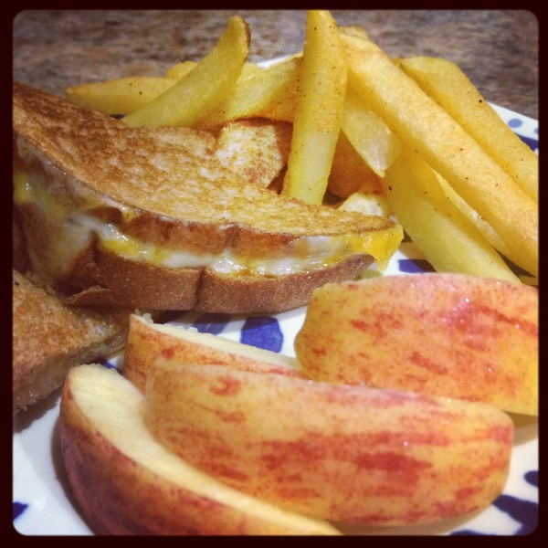 Grilled Cheese and Ore Ida French Fries