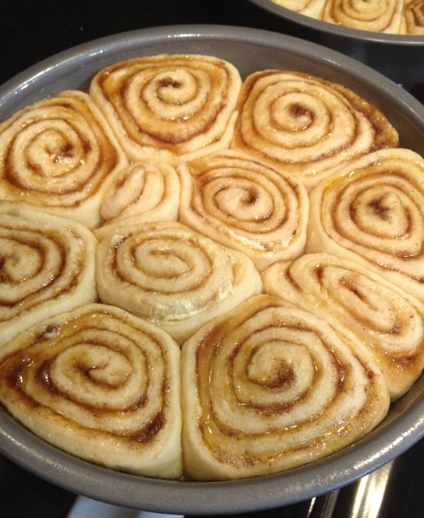 Homemade Christmas Day 2 Cinnamon Rolls