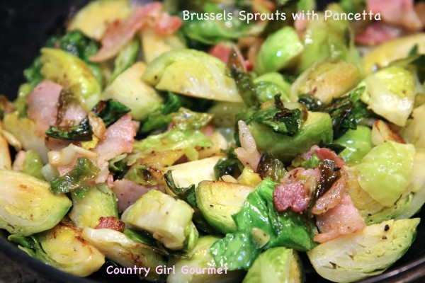 Brussel Sprouts with Pancetta | Country Girl Gourmet