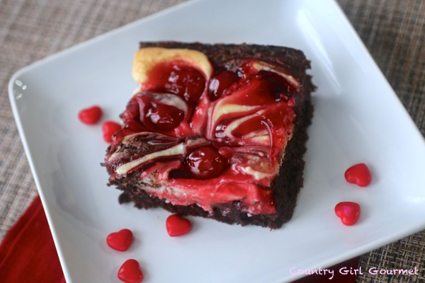 Cherry Cheesecake Brownies -Gluten Free | Country Girl Gourmet