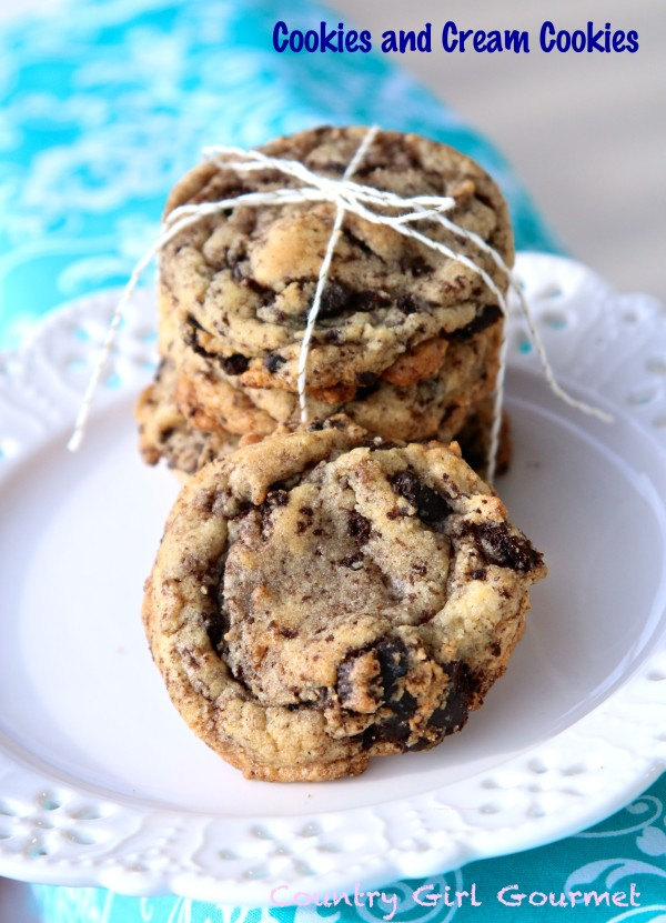 Cookies and Cream Cookies | Country Girl Gourmet
