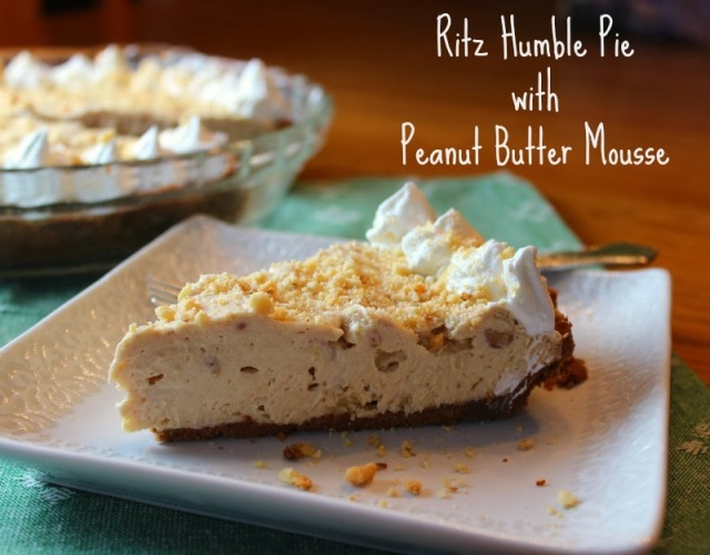 RITZ humble Pie with Peanut Butter Mousse | Renee's Kitchen Adventures