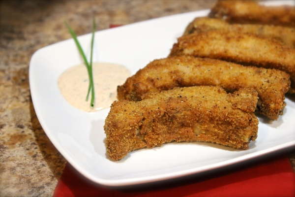 RITZ Country Fried Ribs with Zesty Buttermilk Ranch Dressing   Country Girl Gourmet
