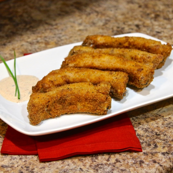 RITZ Country Fried Rib's with Buttermilk Ranch Dressing   Country Girl Gourmet