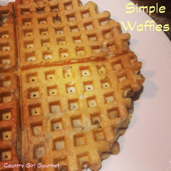 Simple Waffles for a Snow Day | Country Girl Gourmet