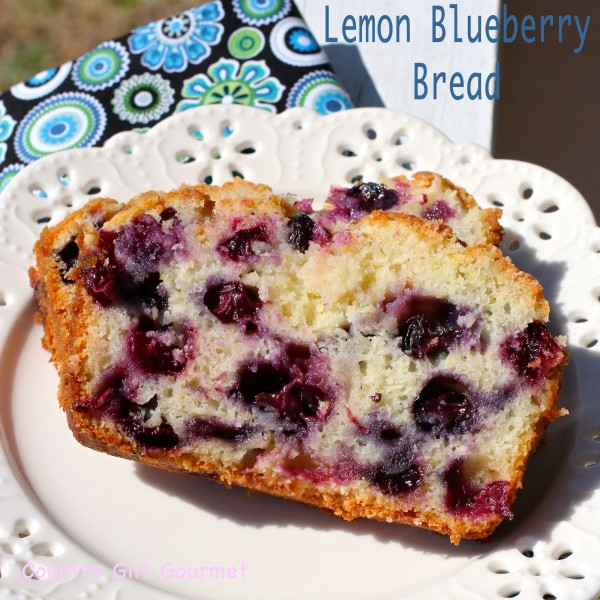 Lemon Blueberry Bread (gluten free) | Country Girl Gourmet