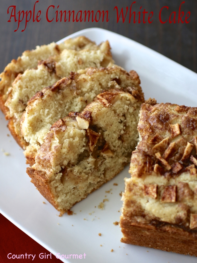 Apple Cinnamon White Cake |Country Girl Gourmet